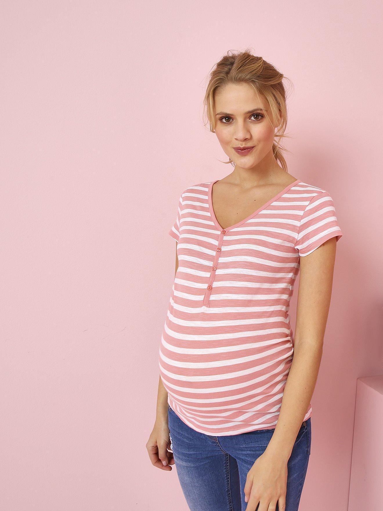 780fd6839 Camisetas y Polos Camiseta tunecina para embarazo y lactancia, de...