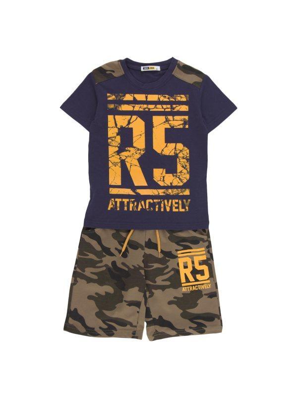 db9d4ca87 Conjunto niño 2 piezas camiseta y pantalón camuflaje azul marino camuflaje  010