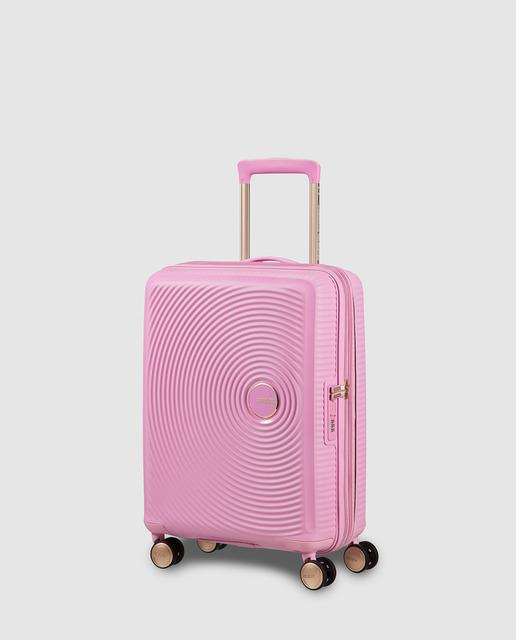 61abcc0ac Maleta de cabina expandible sound box, rígida rosa, con capacidad hasta 41 l