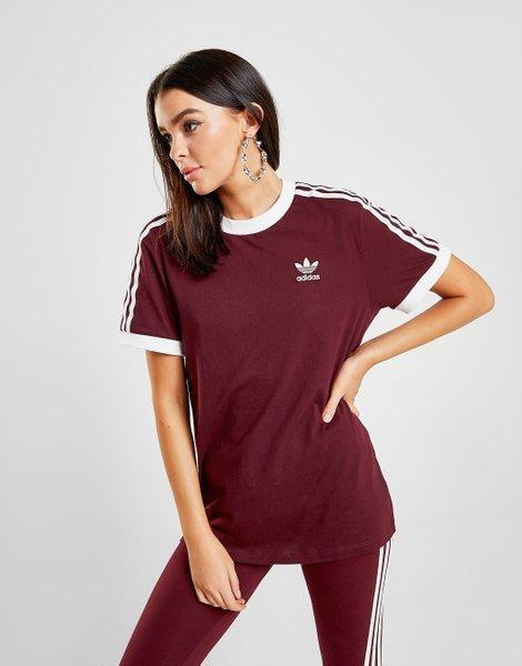 Originals camiseta 3 stripes california, maroonwhite
