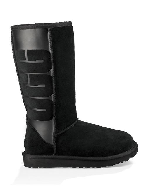 d624fe1b82c Botas de mujer w classic tall rubber en ante de color negro
