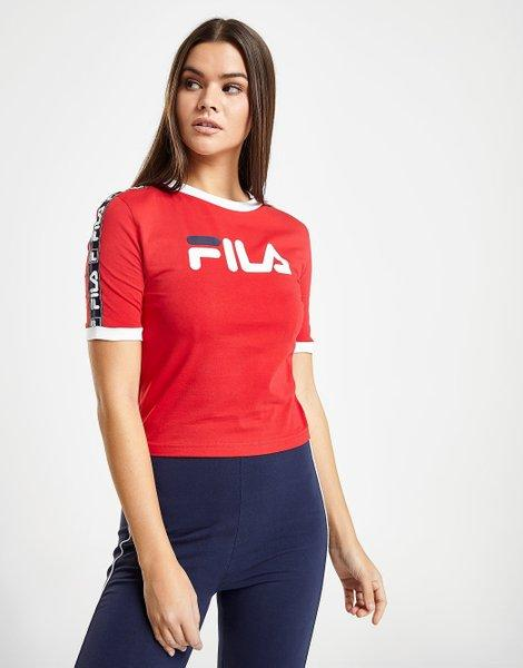 e96a3ead8f7 Camiseta tape crop ringer - only at jd, rojo