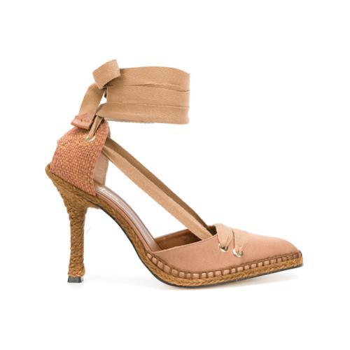 2545d650 Zapatos tipo alpargatas con tacón medio x manolo blahnik - marrón