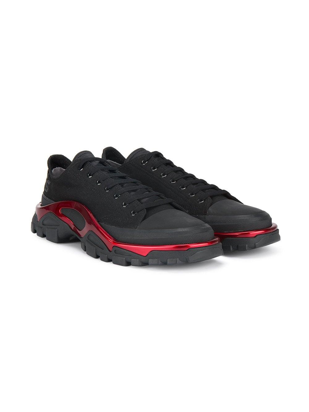 Raf Simons By Con New Negro Zapatillas Cordones Runner 4L3Aj5R