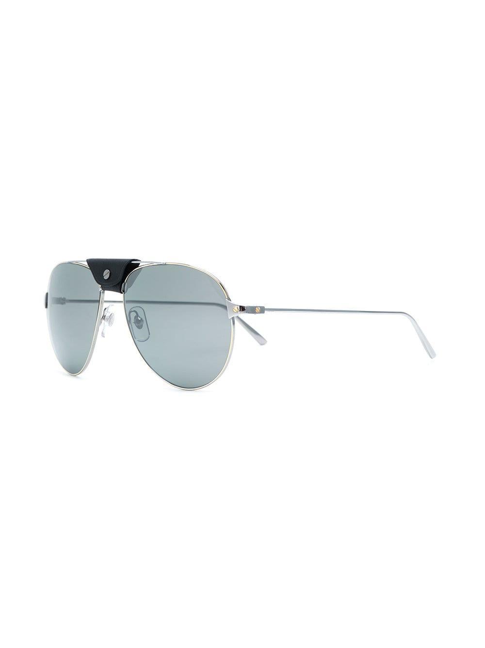 Con Metalizado Gafas Sol Barra Cuero De kXw0OP8n