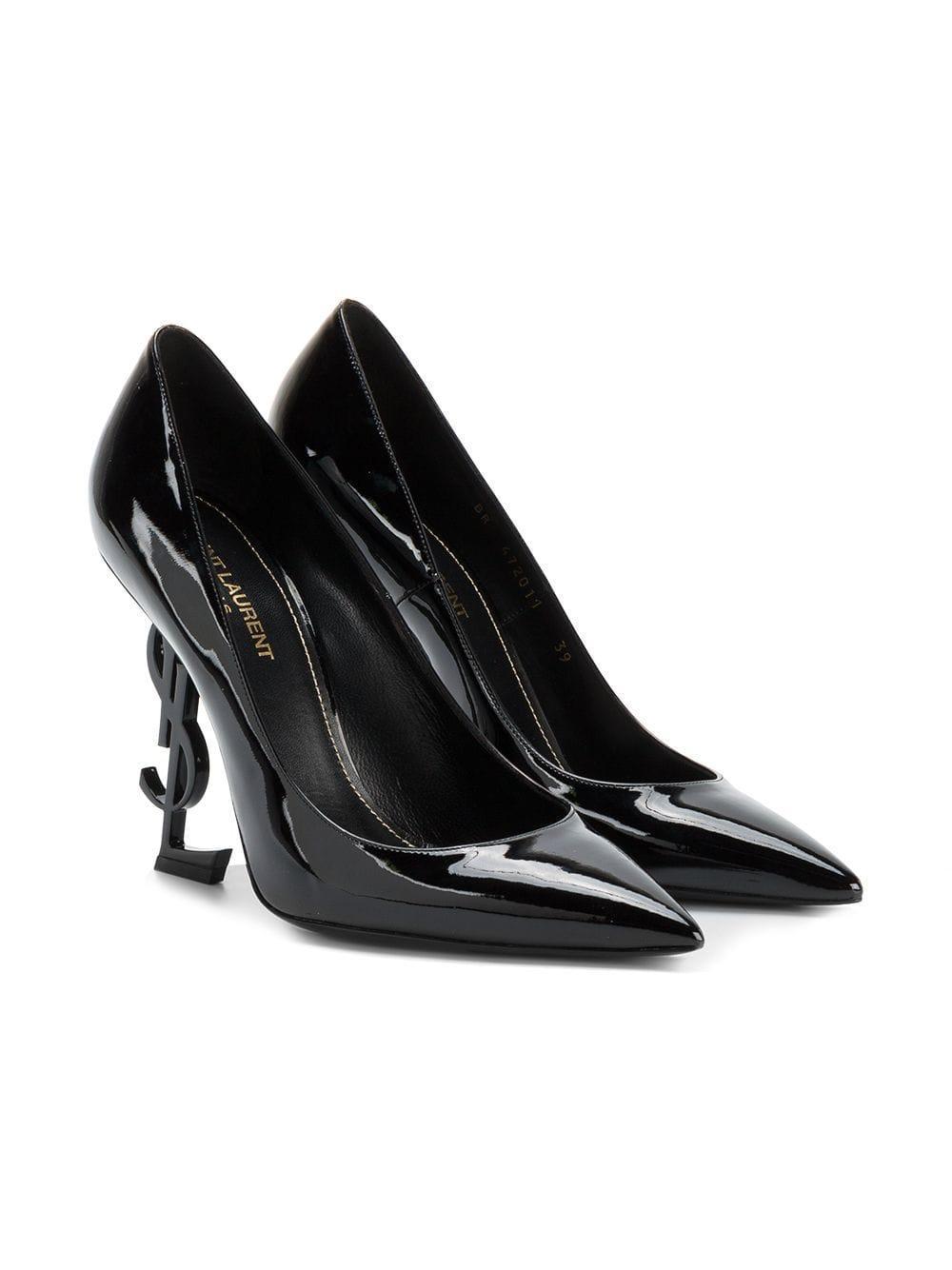 Zapatos Tacón Laurent Opium De Negro Saint gvy76bfY
