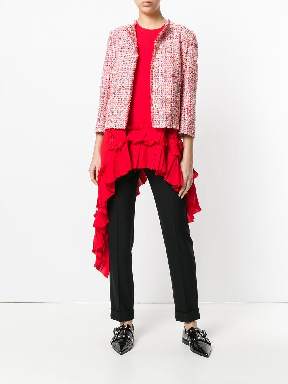 a54b7457f62 Chaqueta de tweed corta - rojo