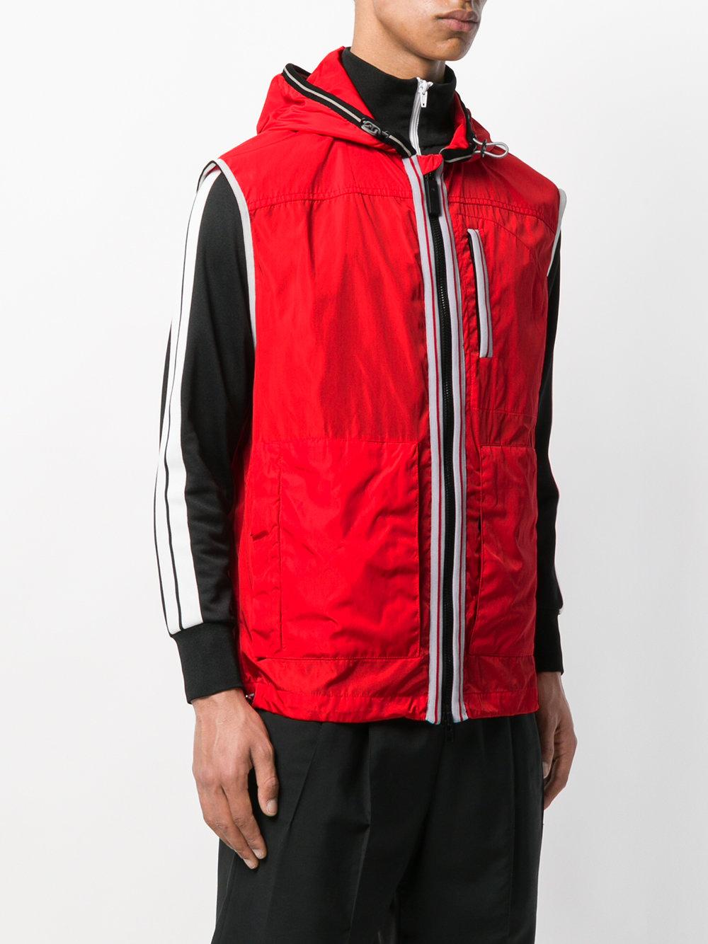 Chaleco con capucha - rojo cbaf4d6ad813