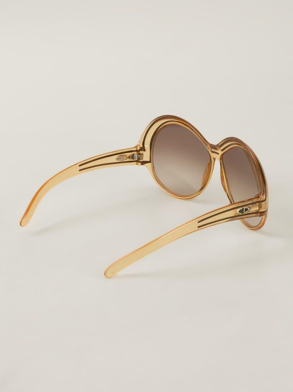4320fd19ea Vintage gafas de sol con montura redonda - marrón