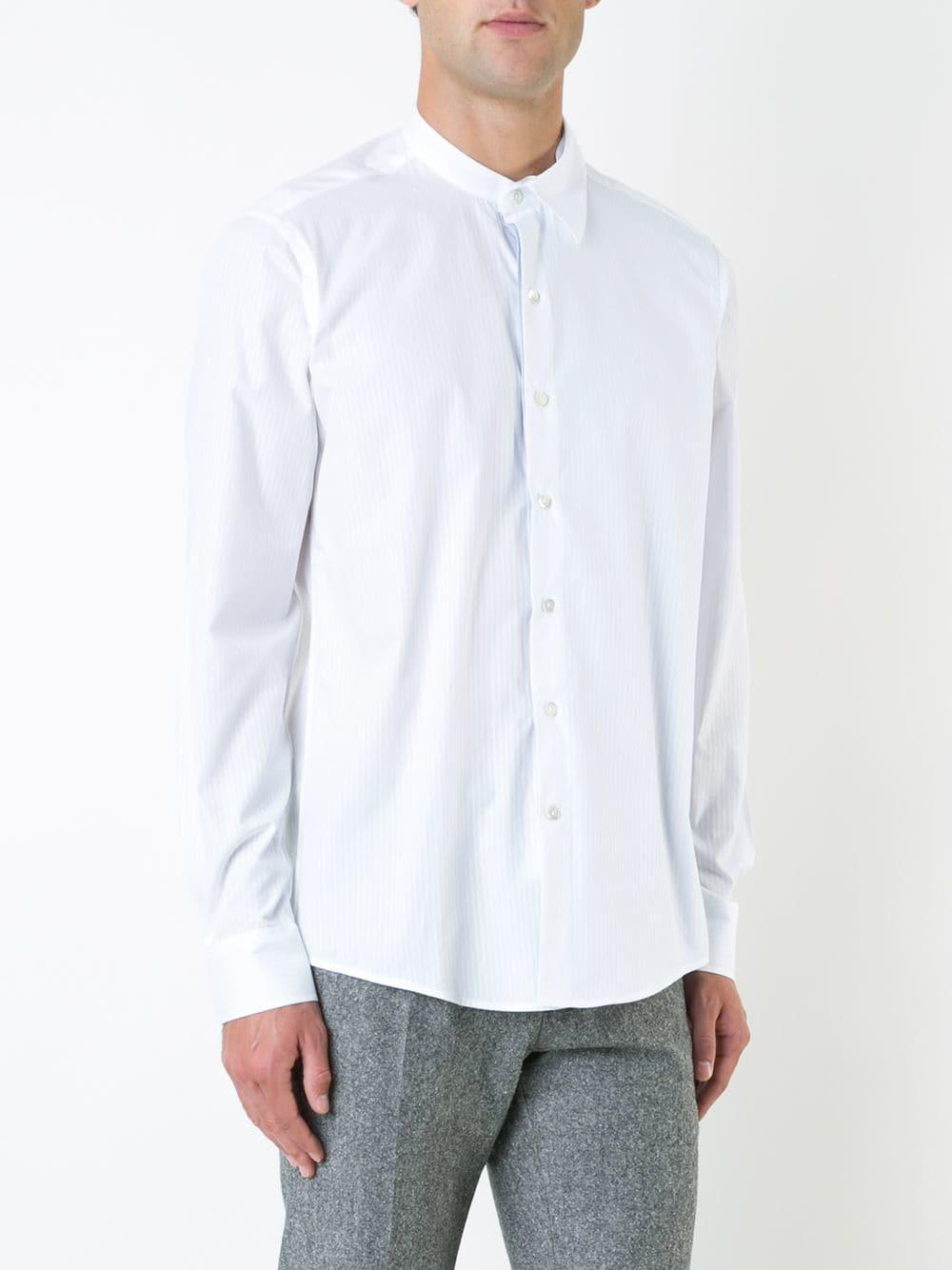 7ac90cdf81 Casely-hayford camisa con cuello mao - blanco
