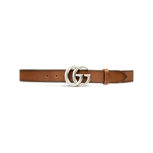 1952e7a82 Cinturón de cuero con hebilla de doble g - marrón