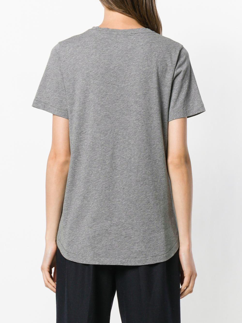 Corazones Camiseta Corazones Con Gris Bordados Camiseta Con dH5Ww1qH4