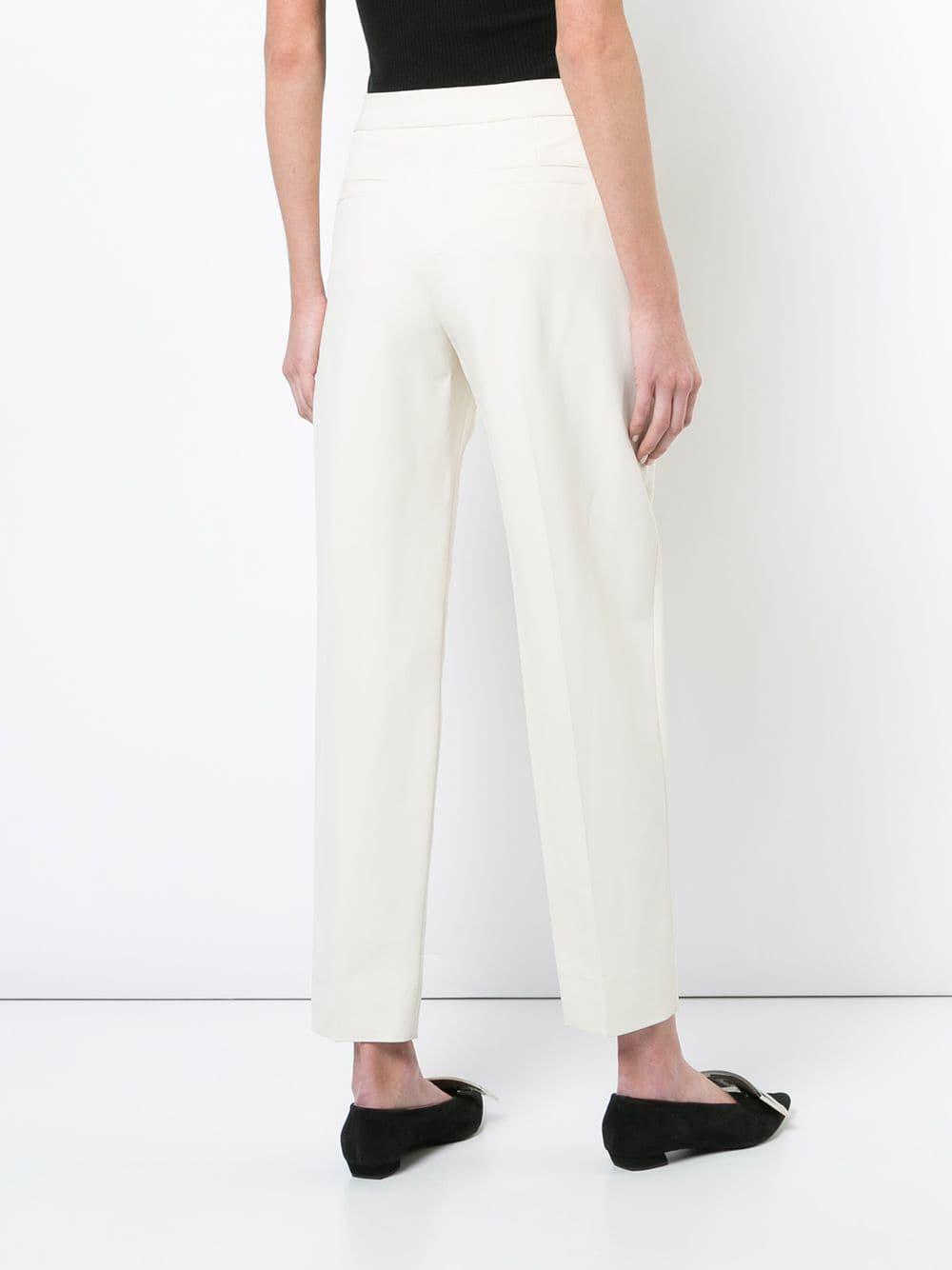 3c9b7243a Pantalones chinos Pantalones de sarga con talle alto - marrón...