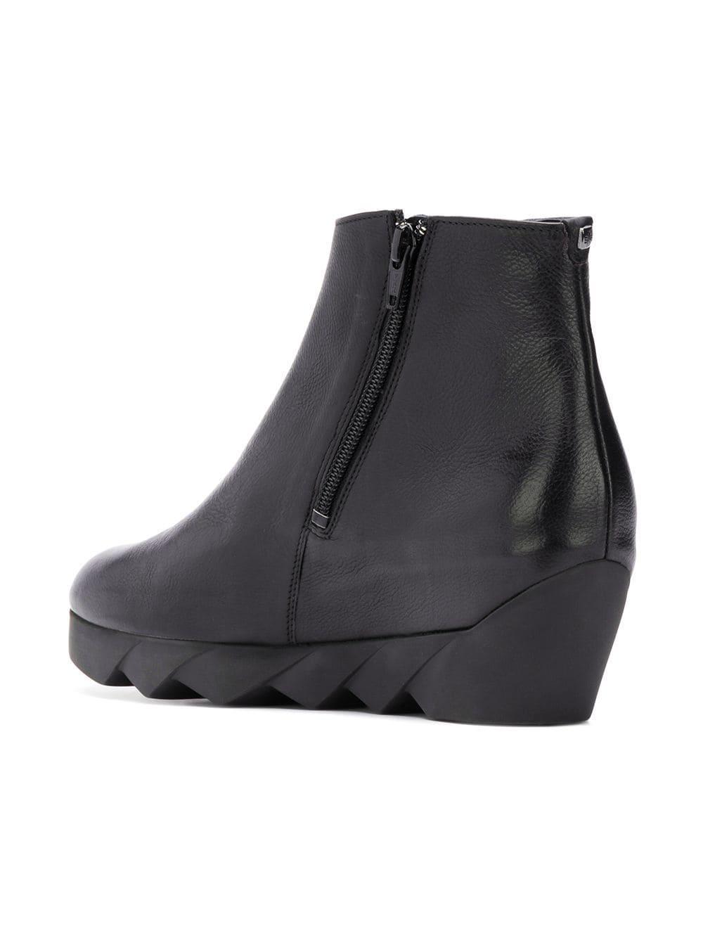 271ec4dc47d Hogl botines de cuña - negro