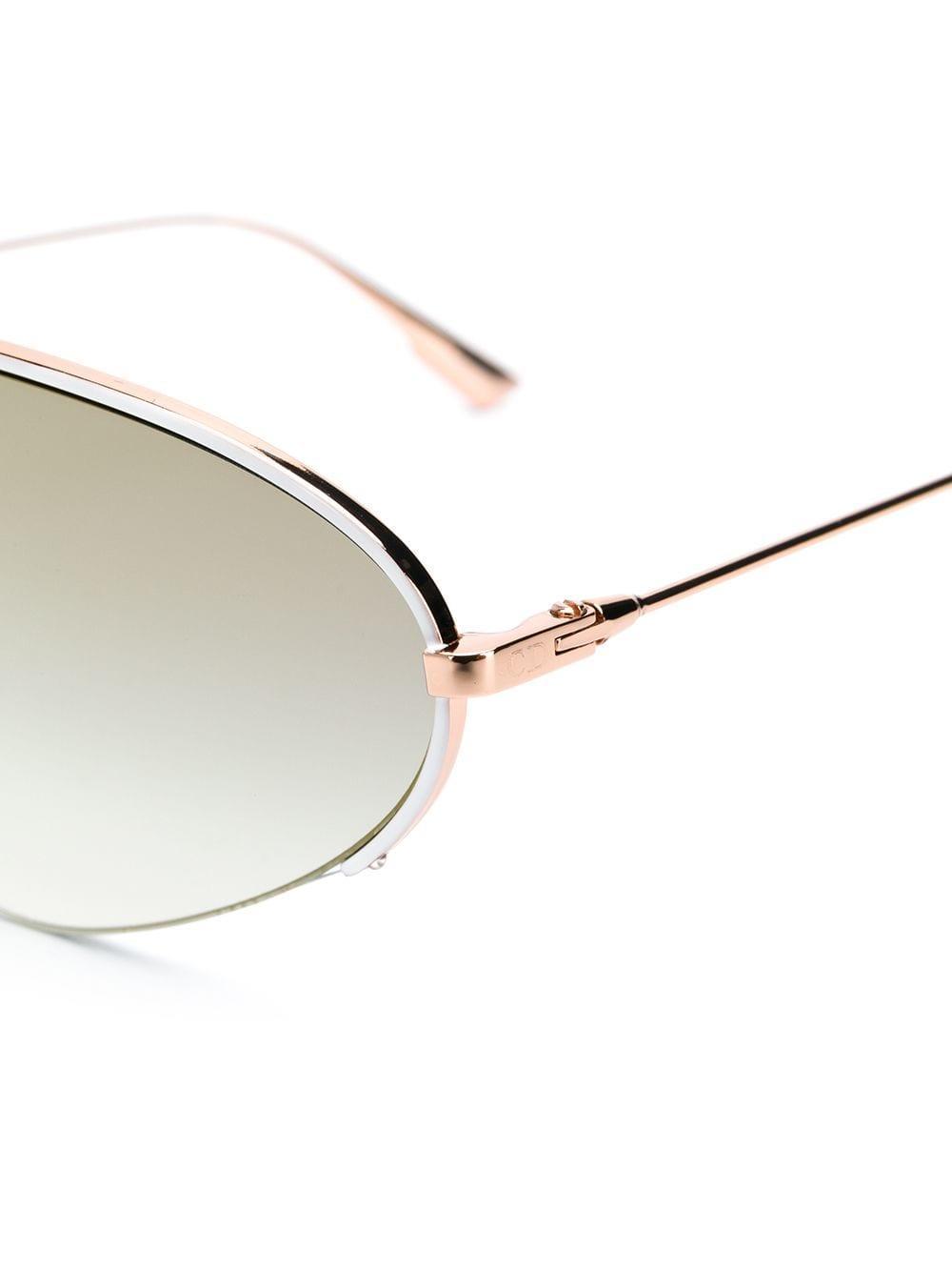 Dior eyewear gafas de sol con montura estilo aviador - dorado 3503fa1dbdd8