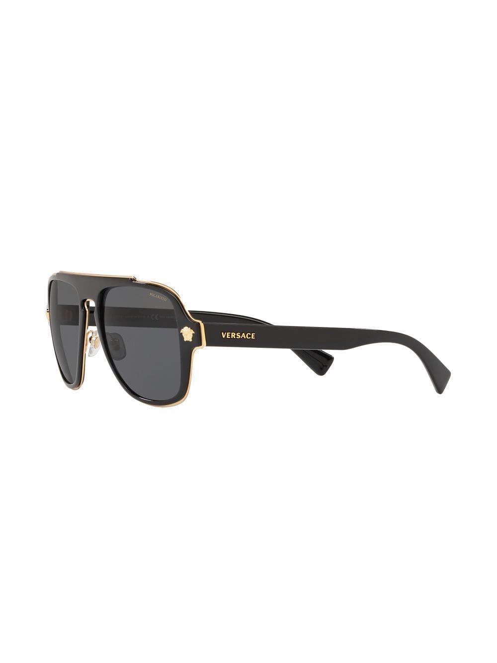 75dce9940f Eyewear gafas de sol cuadradas estilo aviador - negro
