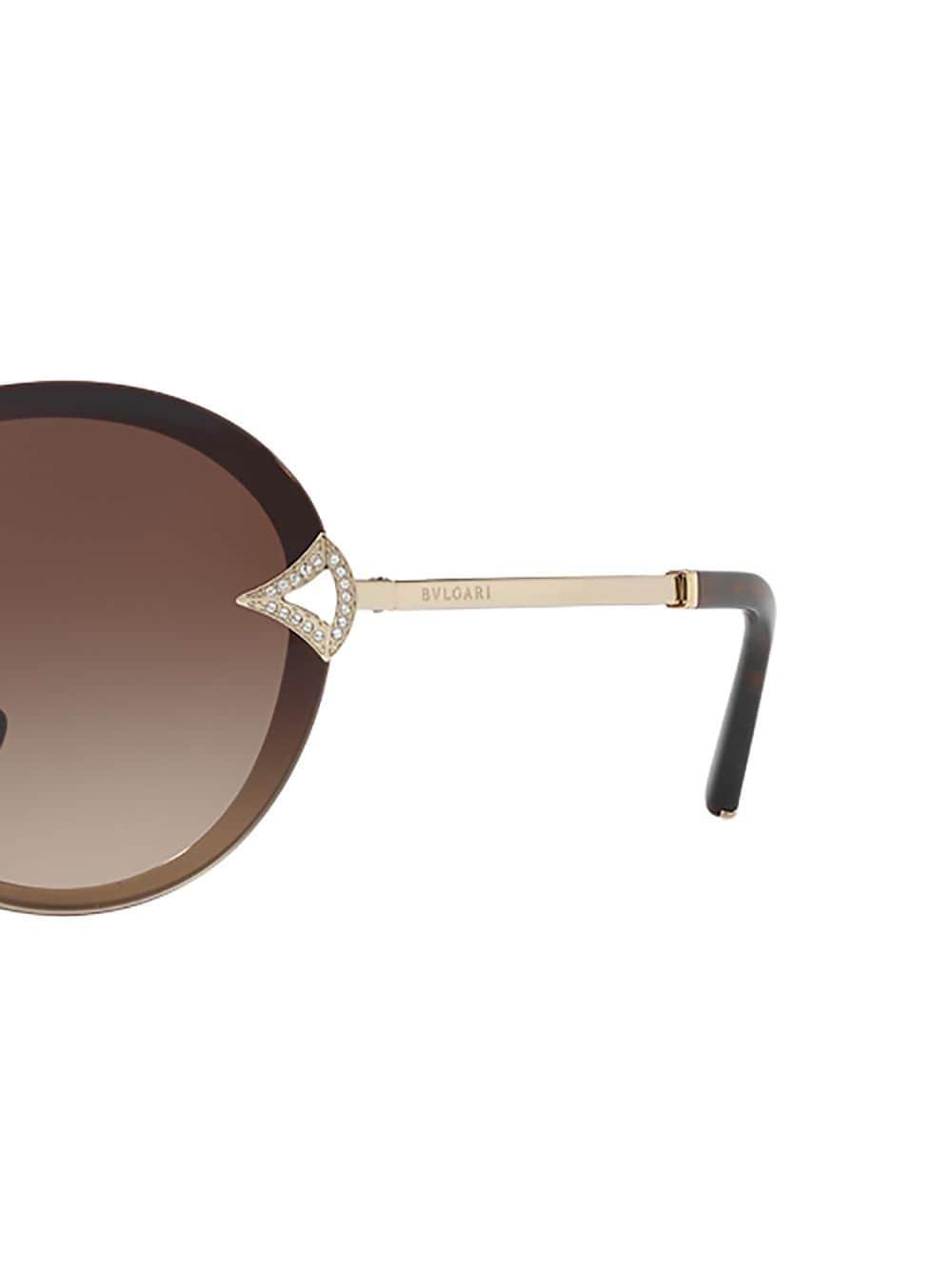 Sol Y Metalizado Gafas De Redonda Montura Aplique Con Cristales shQrtCxdB