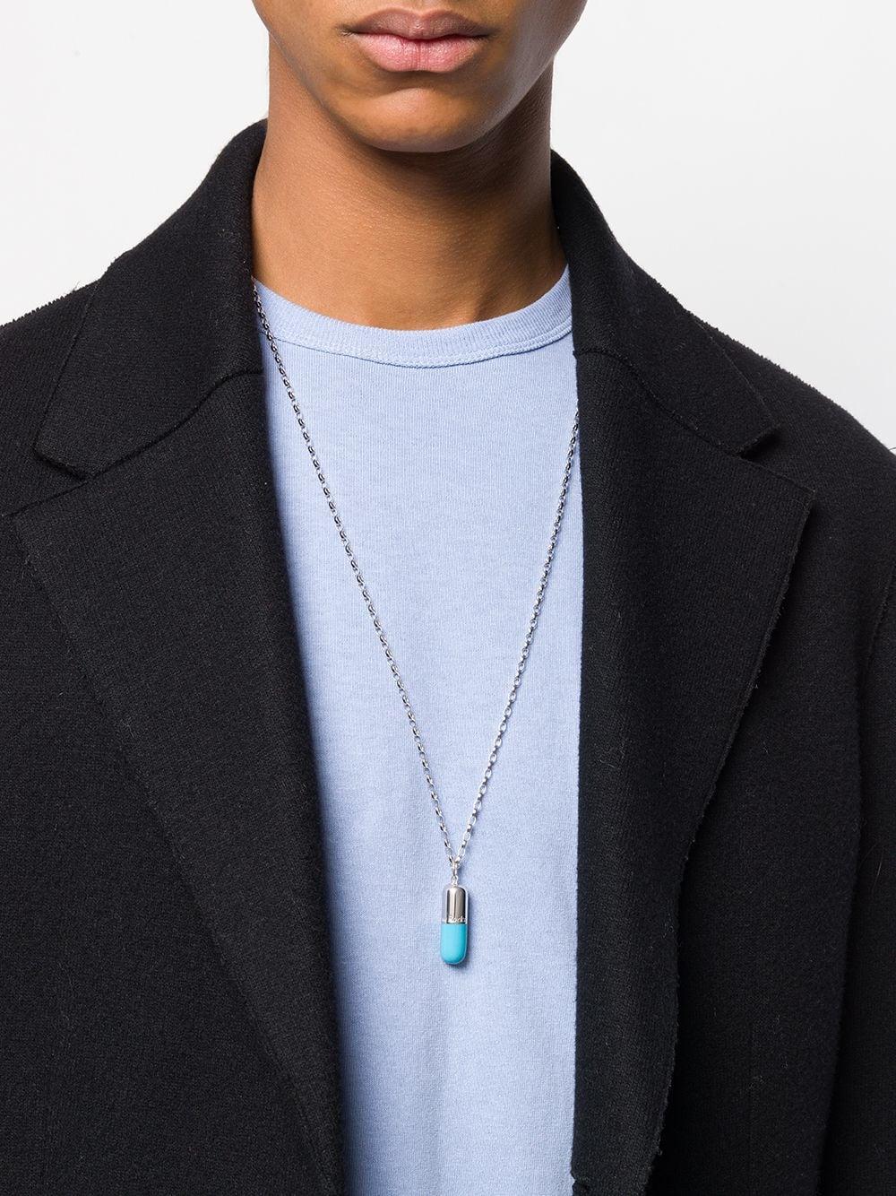 73074df9f8c5 Collar con colgante pill - plateado
