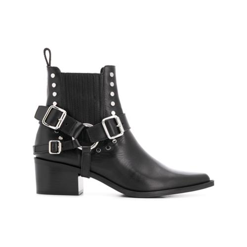 fd0a29a172 Black gold botines western - negro