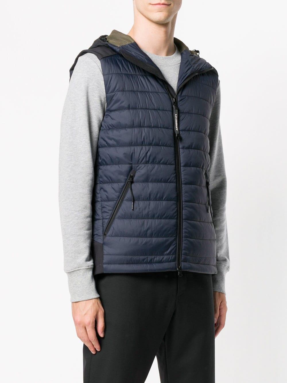 Chaleco con capucha - azul b1632499a251