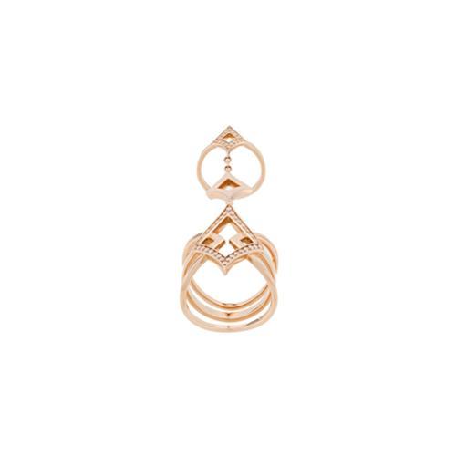 1c058aeb3a Anillo en oro rosa de 18kt y diamantes - dorado