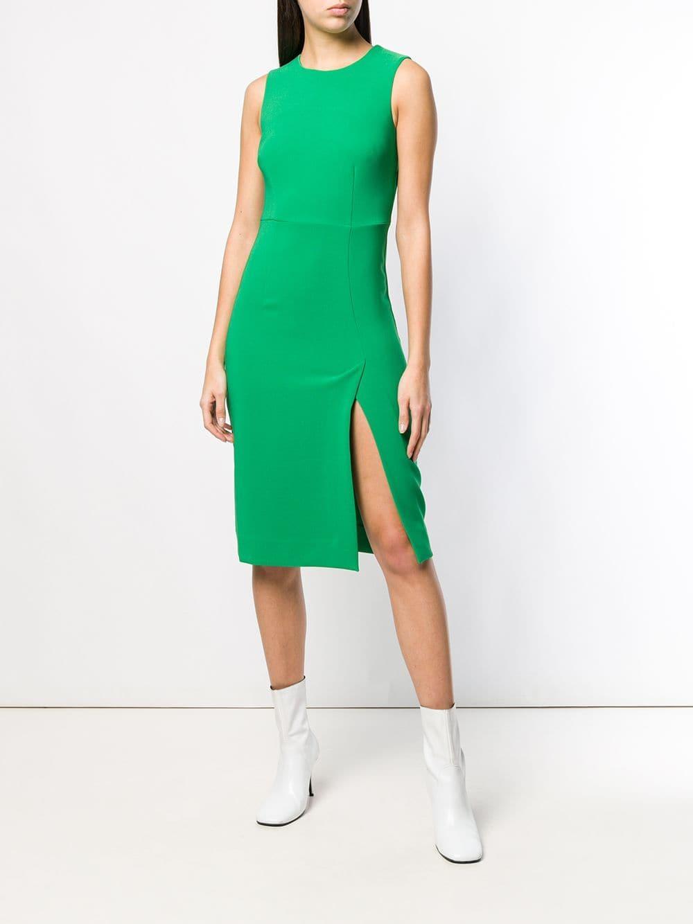 9486d2efe6 Vestido midi ajustado - verde