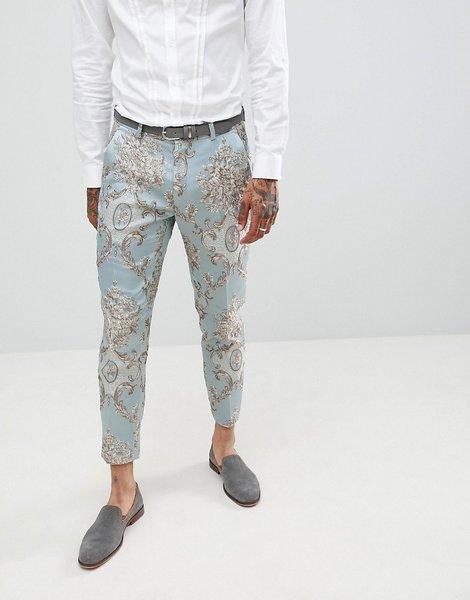 Traje Ajustados Pantalones Jacquard De Design Pato Y Capri Huevo LzSUqGVMp
