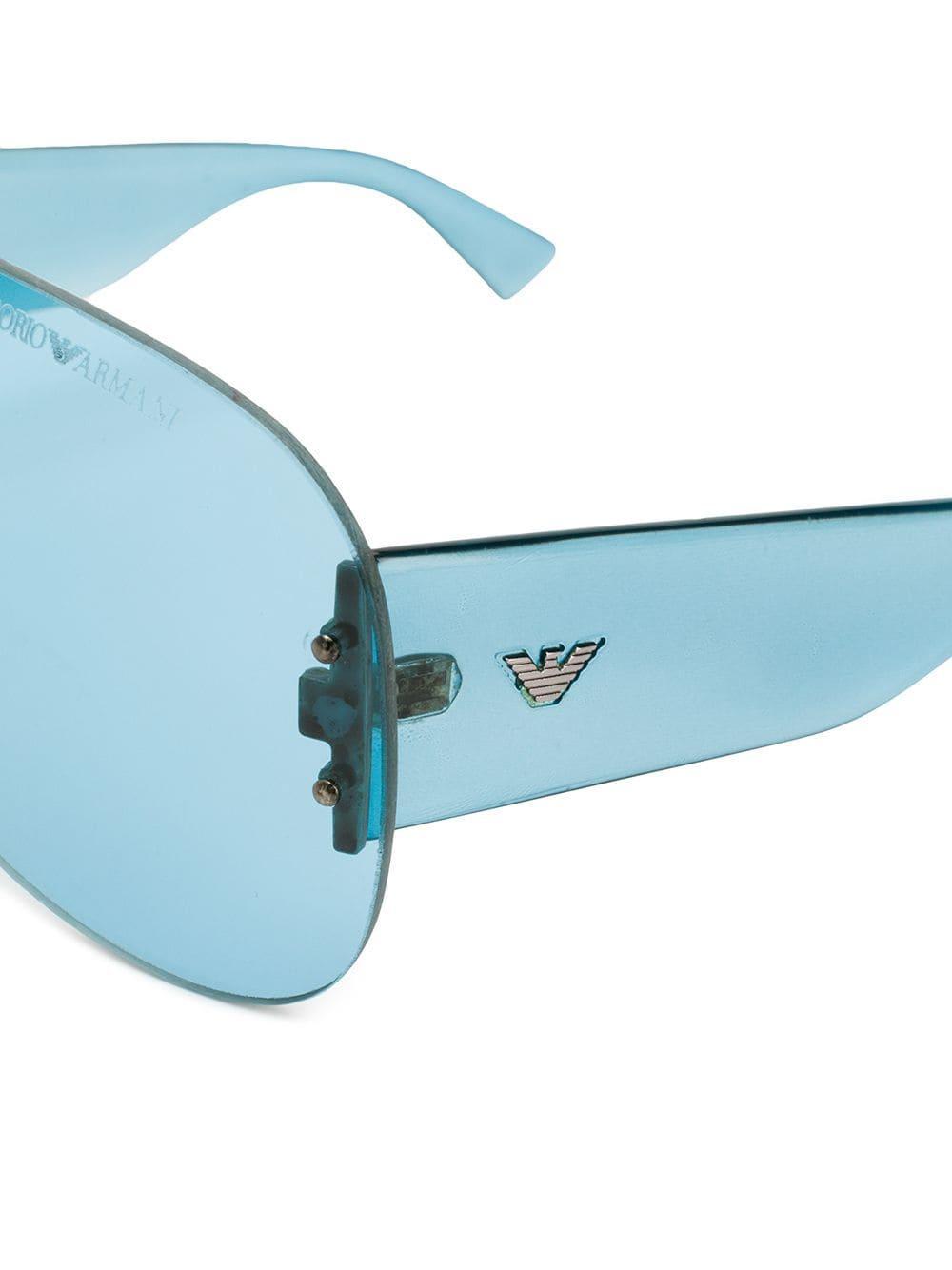 ceec89890829b Vintage gafas de sol estilo aviador - azul
