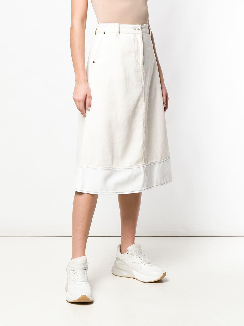 b946d0cd8 Faldas Falda recta de talle alto - blanco Marni