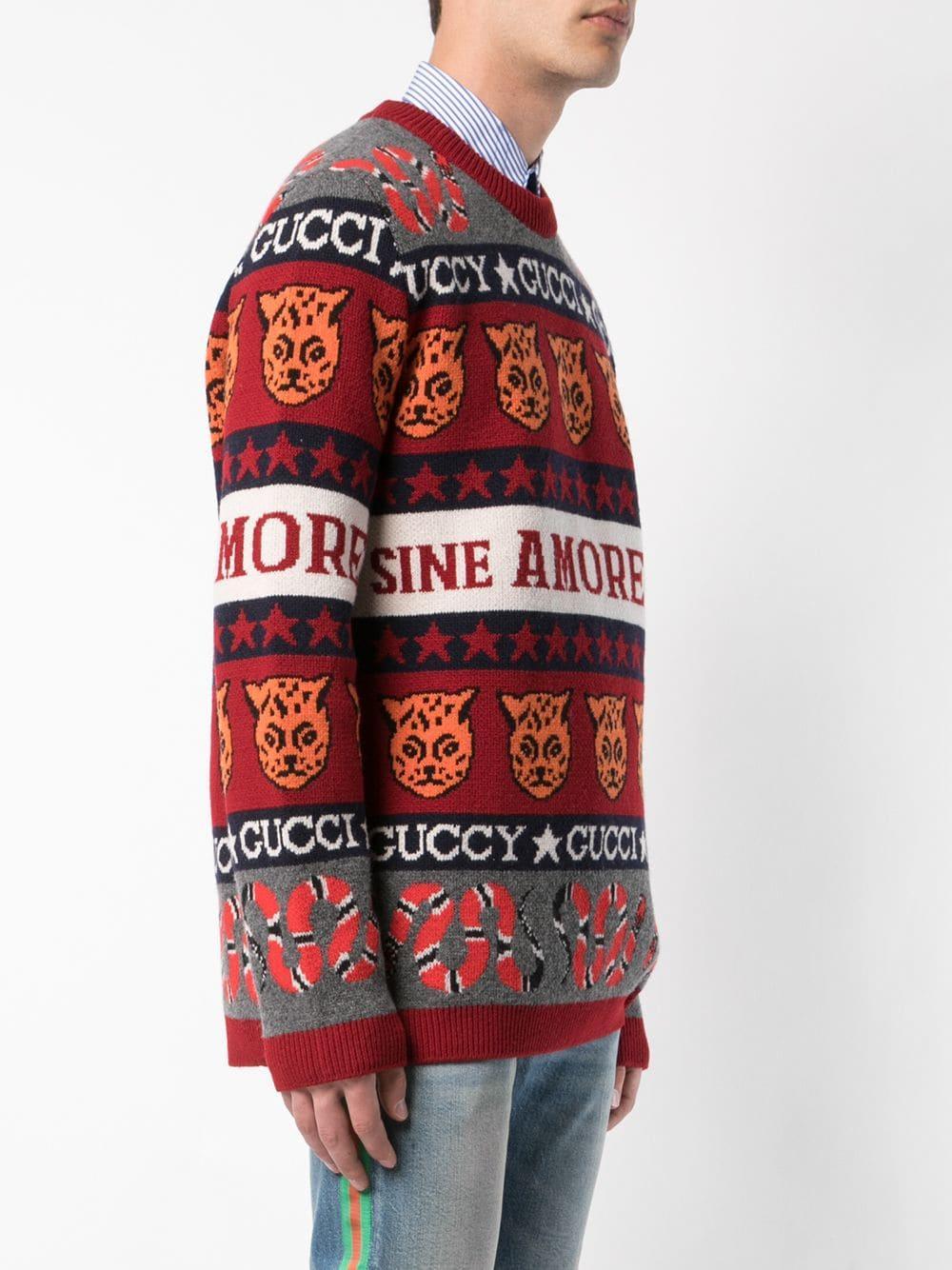 2ee712738 Jersey con símbolos en jacquard - rojo