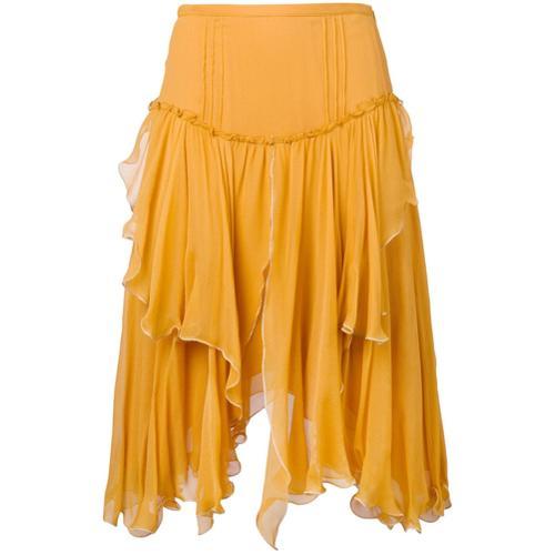 0165823dc1 See by falda drapeada asimétrica - amarillo