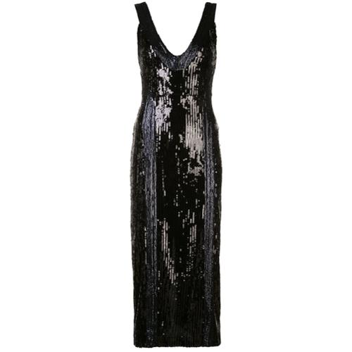 32217f393654 Vestido de cóctel con lentejuelas - negro