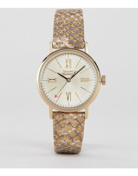 53bdd7232cfd Reloj de mujer con correa de cuero en dorado burlington vv170gdmt. Vivienne  Westwood