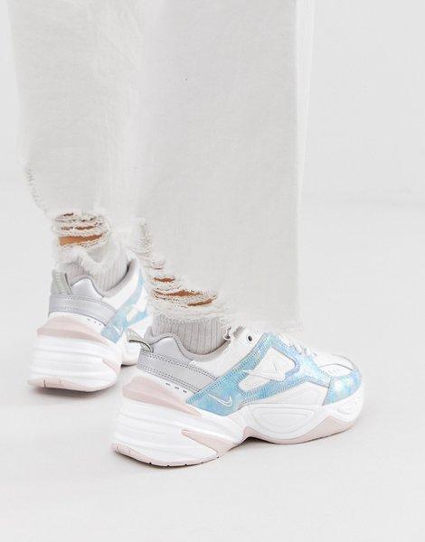 Zapatillas de deporte con diseño tornasolado en rosa y azul