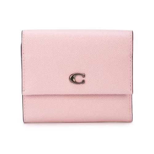 54beaec75 Coach cartera pequeña con solapa - rosa