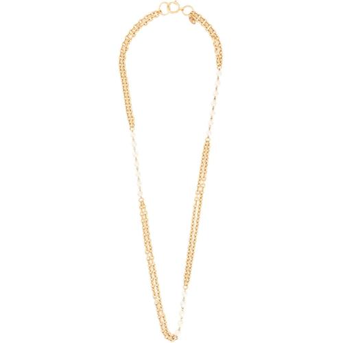e1f7f05cab0c Vintage collar de cadena con perlas - dorado