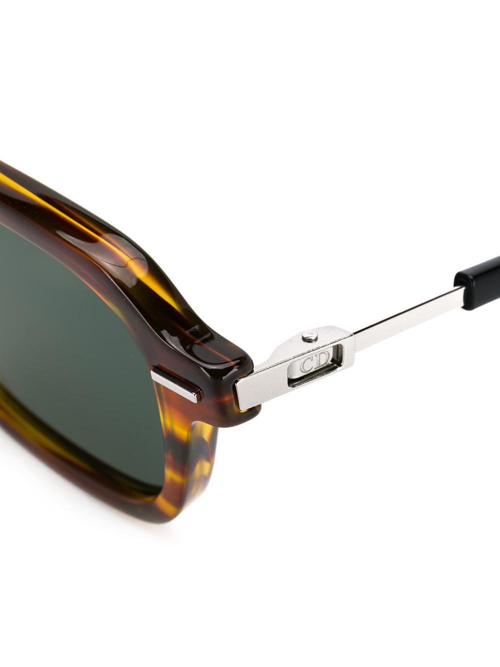 e9df537385 Dior eyewear gafas de sol con montura cuadrada de carey - marrón