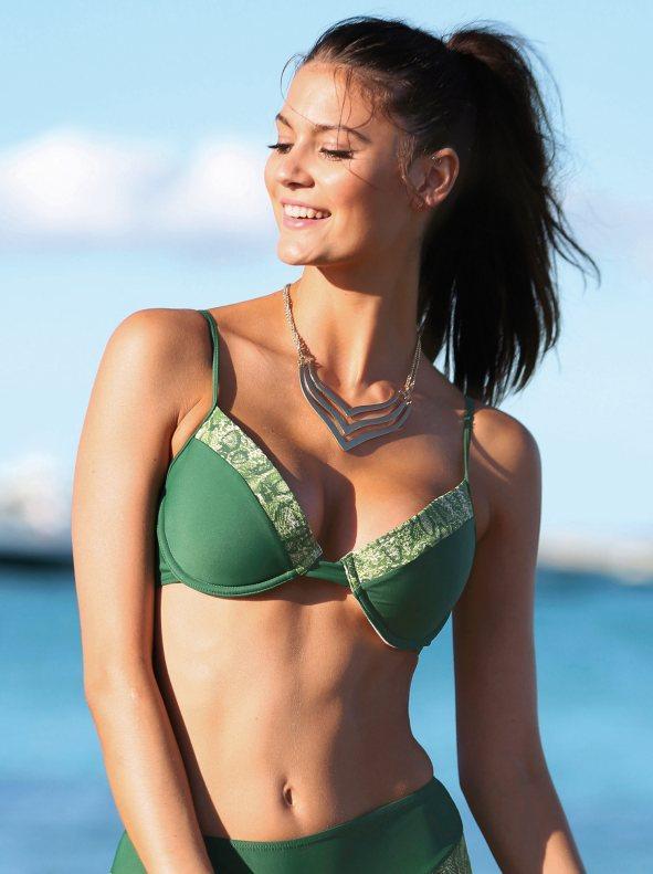 Sujetador de bikini mujer copa b con aros verde estampado 00b 16114b17c3d8
