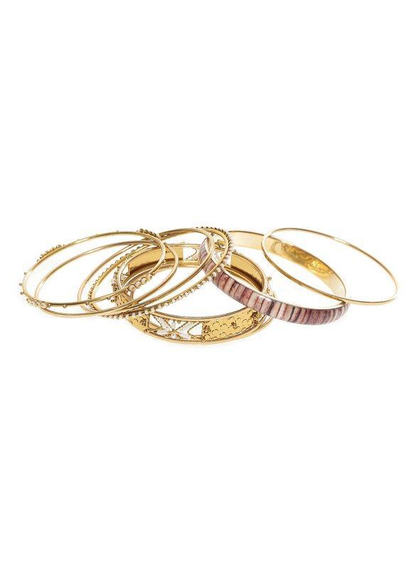da228b968cba Set 10 pulseras metálicas surtidas mujer con abalorios dorado