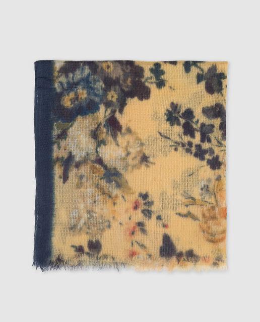 ff80bc54 Fular con estampado floral amarillo