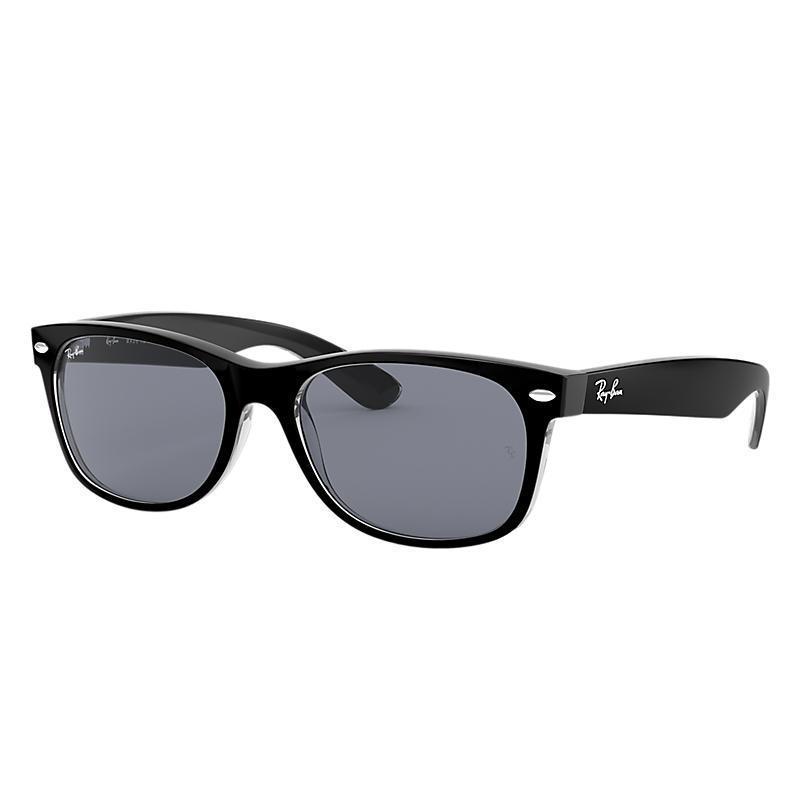 New wayfarer classic unisex sunglasses lentes  azul, montura  negro -  rb2132 6398y5 52-18 d947141ff4