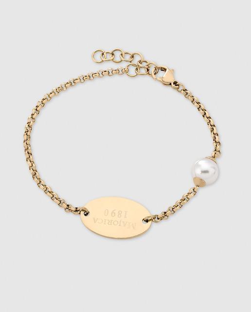 ddc9f2f84c10 Pulsera con perla blanca