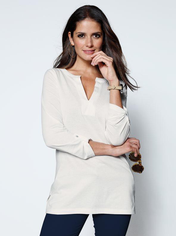 sin impuesto de venta mejor calidad elige lo último Camiseta mujer manga larga de algodón crudo xl