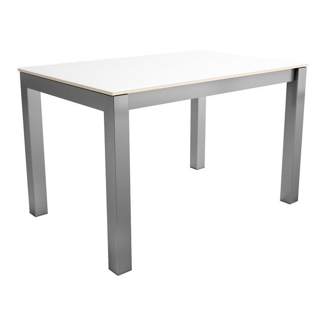 Mesa de cocina extensible de cristal tokio blanco 65 x 111 ...
