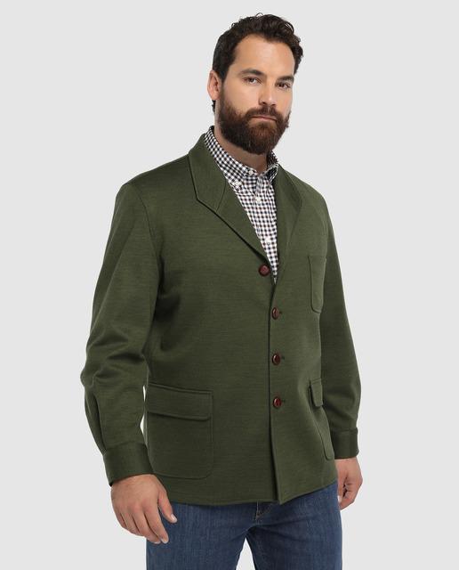 Chaqueta teba de hombre classic lisa verde tallas grandes 42bbb597a6c