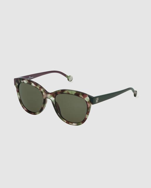 5ad9d550f4 Gafas de sol de mujer de acetato con estampado habana en tonos verdes