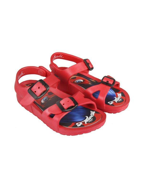 15556c575 Sandalias de playa niña rojas rojo 29