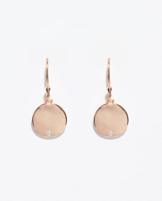 528c07ad89eb Pendientes de plata en oro rosa
