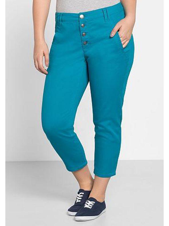 Azul Grandes Tallas Largo Pantalón 78 Mujer 62 N08vOPymnw