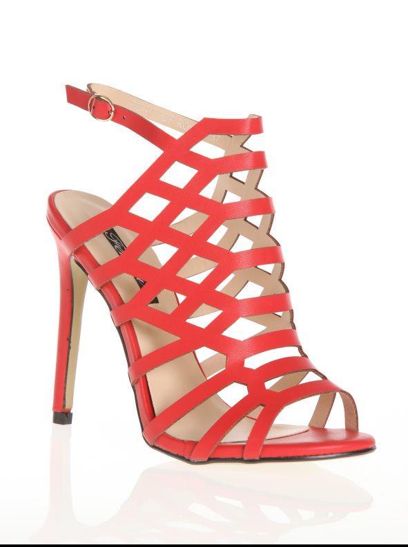 Tacón Abotinado 36 Con Sandalias Fino De Rojo Diseño dsQrht